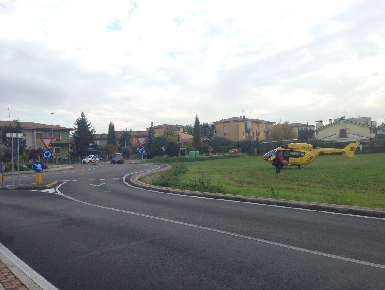 Elicottero 118 Verona : Malore in casa elisoccorso a villafranca verona settegiorni