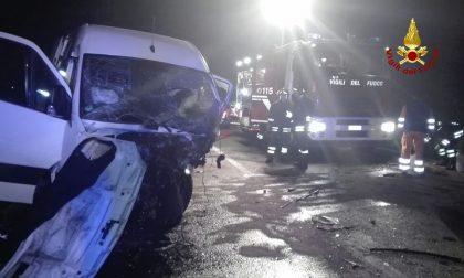 Incidente sulla SS309, un morto e dieci feriti - Le IMMAGINI