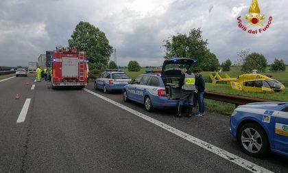 Incidente sulla A22 a Nogarole Rocca, FOTO e VIDEO