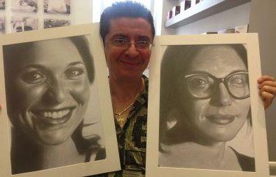 Mastrodonato, l'artista che incanta con i ritratti