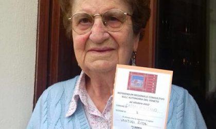 Castel d'Azzano: Rita a 103 anni ancora al voto