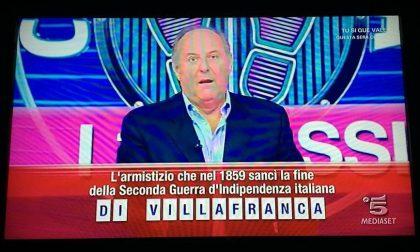 Ieri sera il nome di Villafranca in un quiz televisivo
