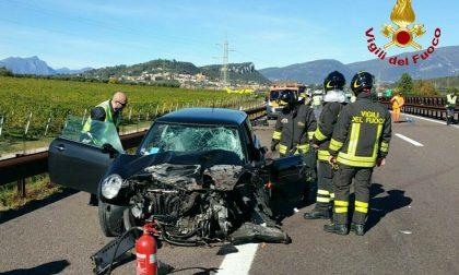 Incidente in A22: ecco le foto del soccorso