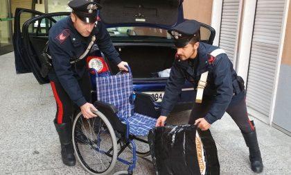 Si finge invalido per rubare nei negozi