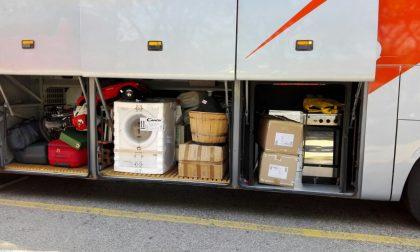 Trasporto di merci abusivo, fermato un bus a Verona