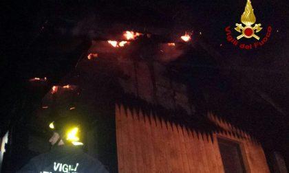 Incendio a San Zeno di Montagna, nessun ferito
