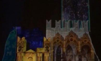 Video mapping sul castello, oggi l'ultimo giorno