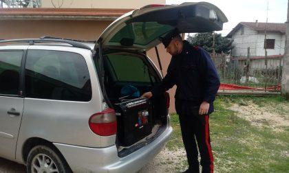 I Carabinieri prendono un ladro seriale