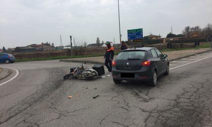 Incidente davanti al supermercato Martinelli di Villafranca