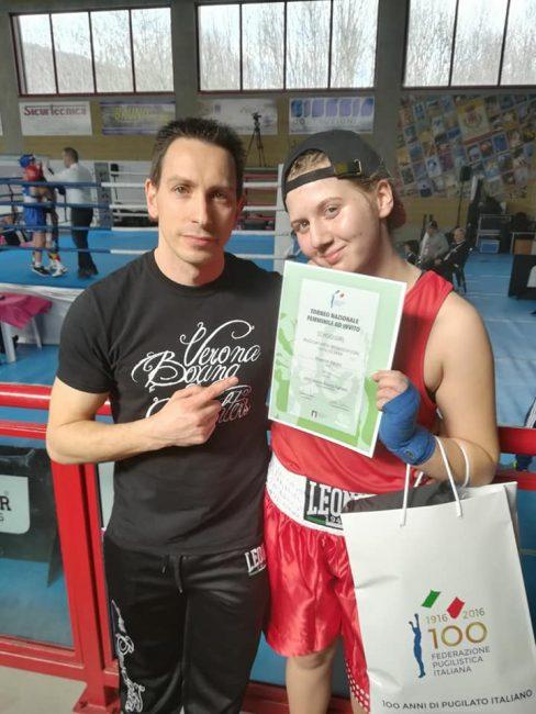 Boxe Beatrice Benini campionessa italiana schoolgirl 67 kg