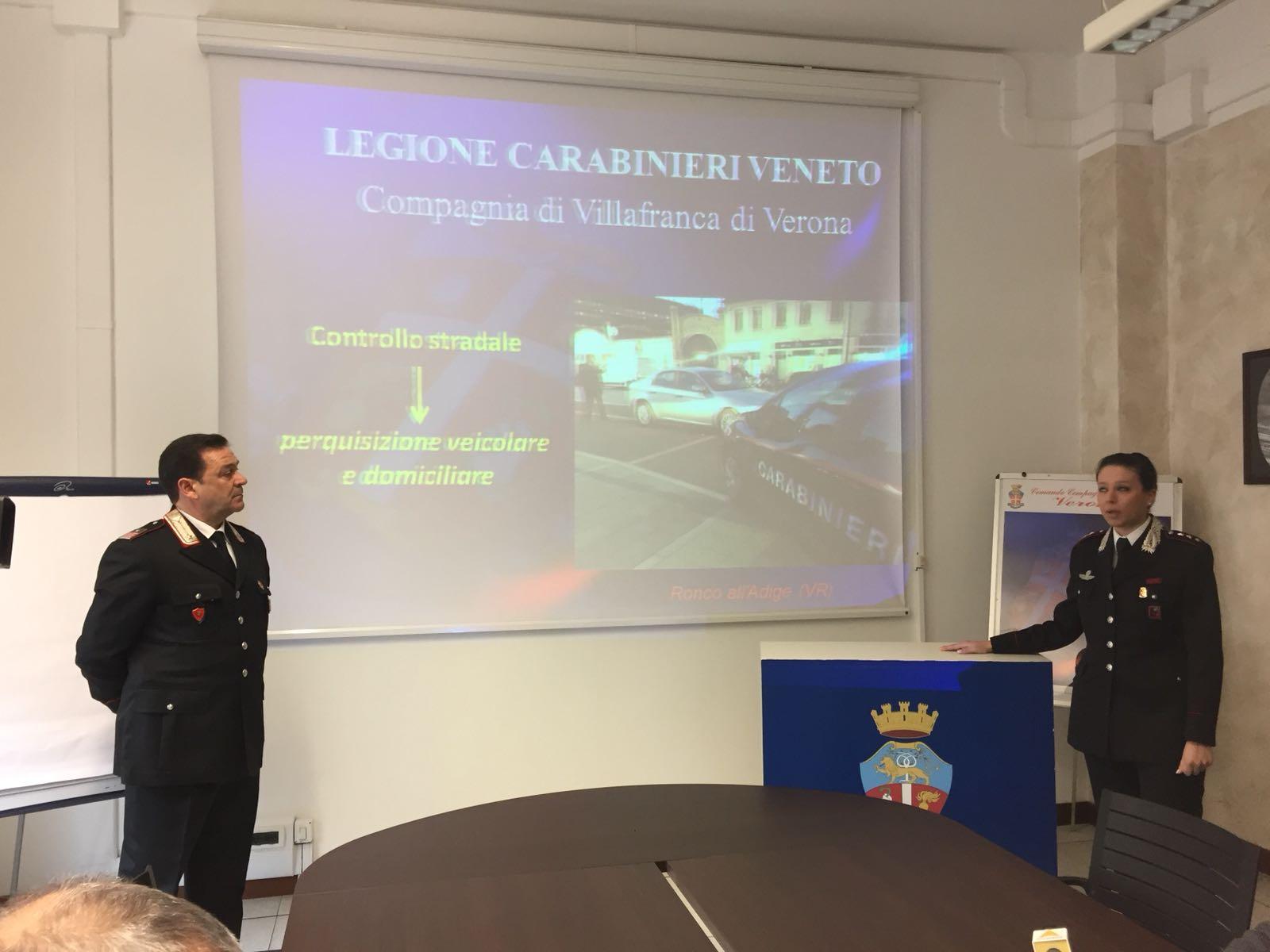Arresto per droga operazione dei Carabinieri di Villafranca