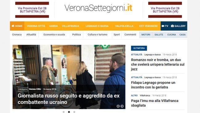 E&#8217&#x3B; nato VeronaSettegiorni.it primo portale veneto del Gruppo Netweek