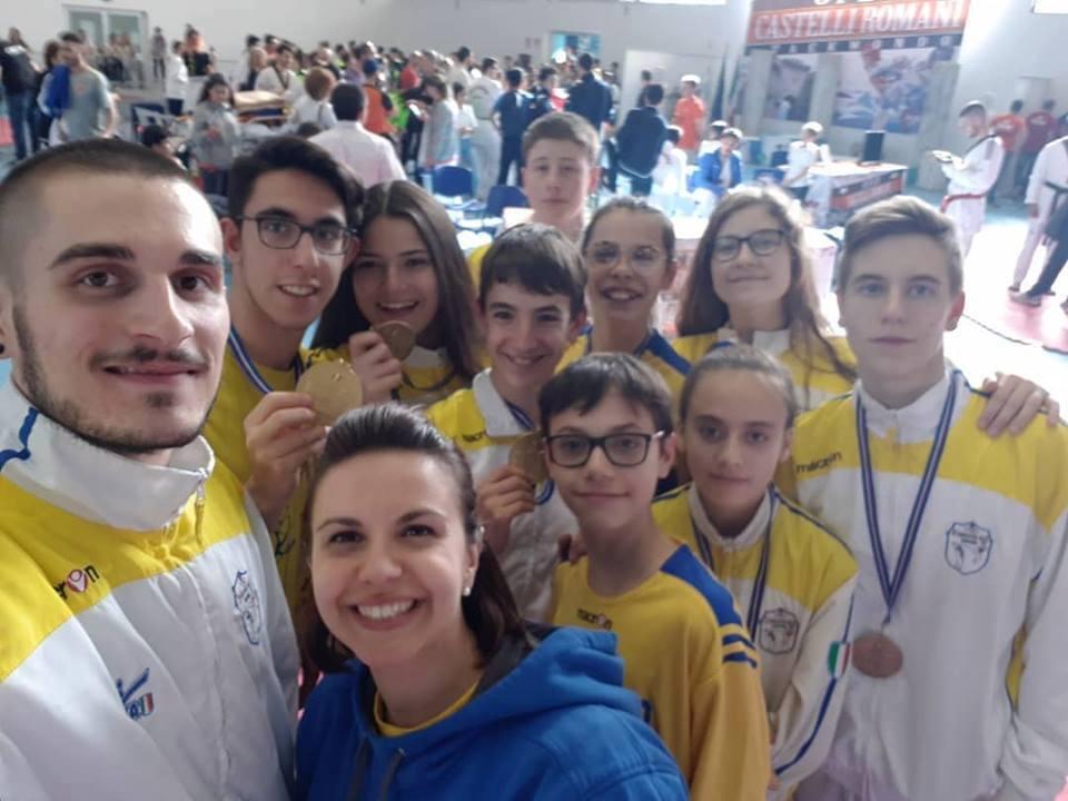 Campioni di Valeggio protagonisti col taekwondo nel Lazio