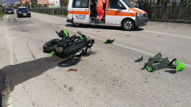 Incidente auto-moto a Bussolengo