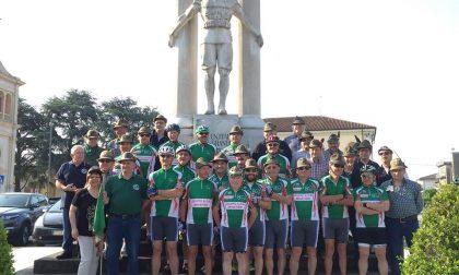 Adunata Alpini Trento 17 ciclisti partono da Minerbe verso la sfilata
