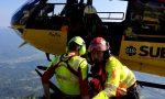 Finisce in un canale seguendo il suo cane: escursionista salvato con l'elicottero