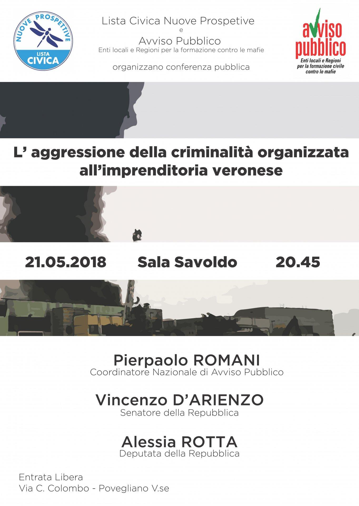 Infiltrazioni mafiose nel veronese conferenza a Povegliano