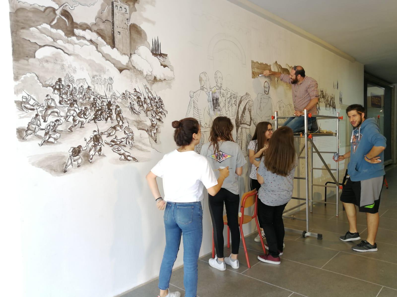 Pace di Villafranca murales nella galleria Metropol