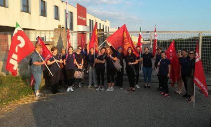 Sciopero lavoratrici No al trasferimento ad Isola Rizza