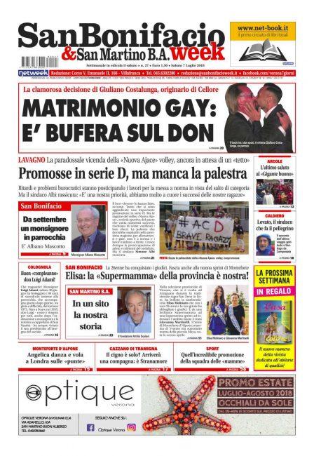 San Bonifacio e San Martino B.A. Week prima pagina
