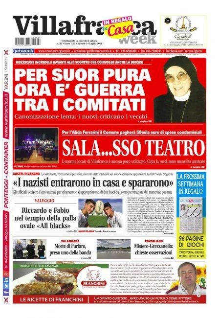 La prima pagina di VillafrancaWeek.