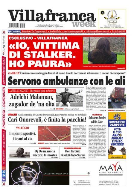 La prima pagina di Villafrancaweek