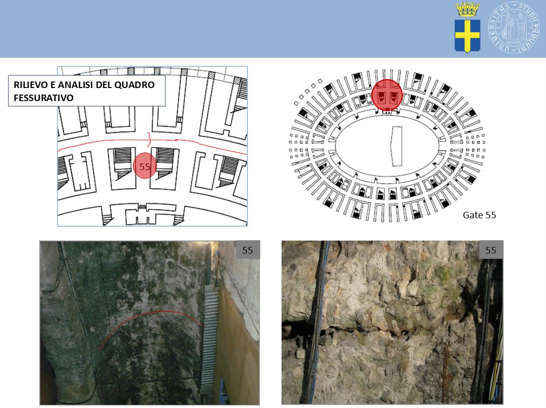 Ala Arena quotidianamente monitorata. La struttura è stata stabilizzata intorno al 1955 da Morandi.