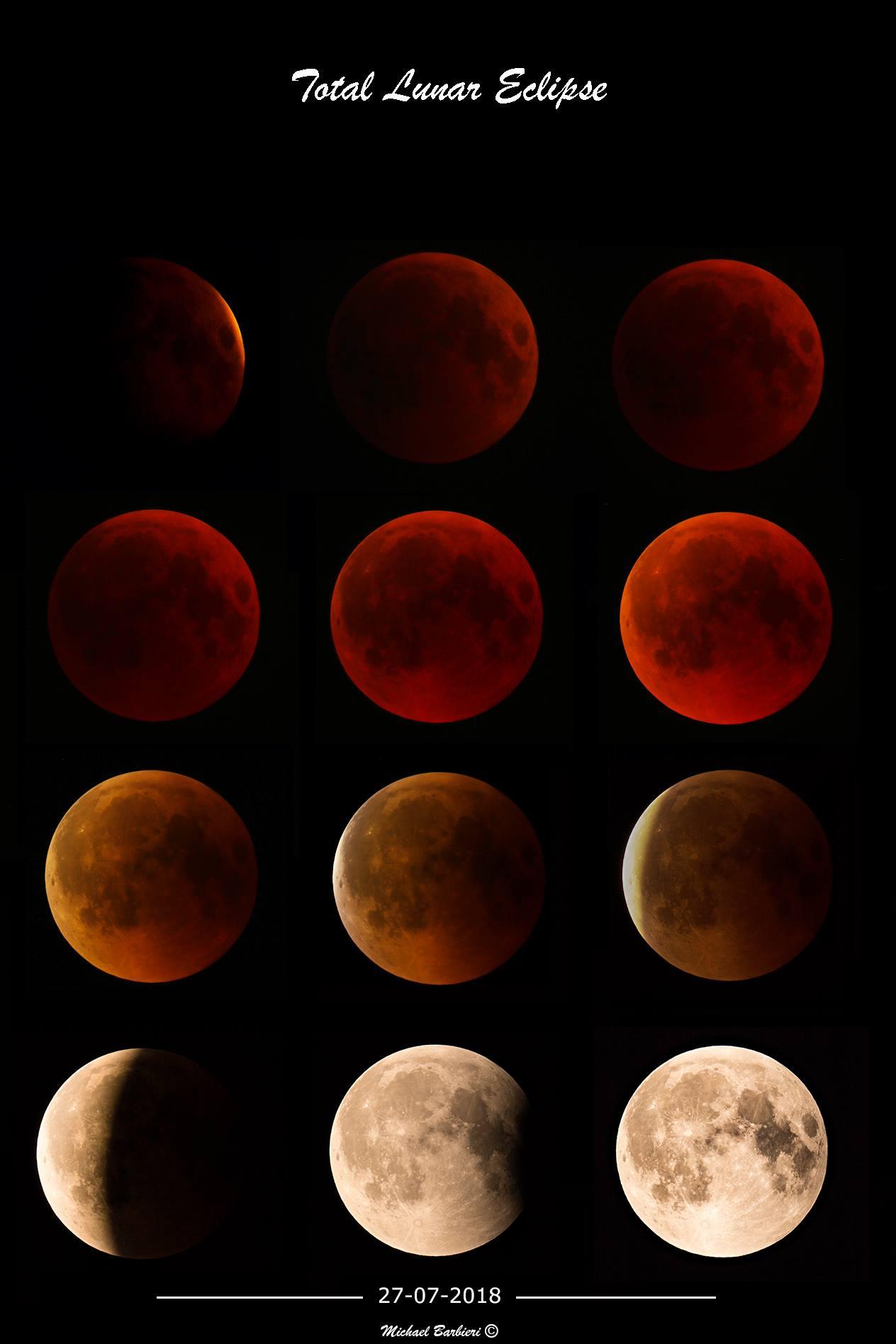 Eclissi di luna le spettacolari immagini riprese da Custoza VIDEO e FOTO