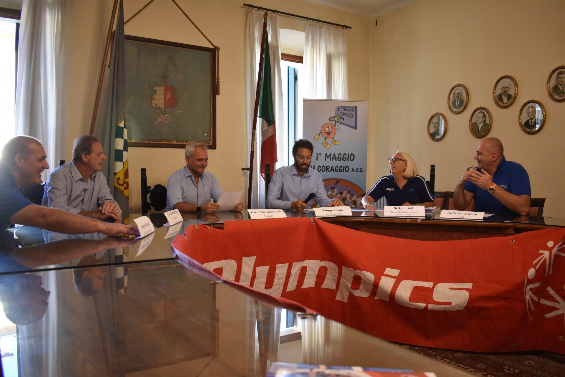 Special Olympics sul lago di Garda. A Lazise il collegiale della nazionale di basket in preparazione ai giochi mondiali di Abu Dhabi di marzo 2019.