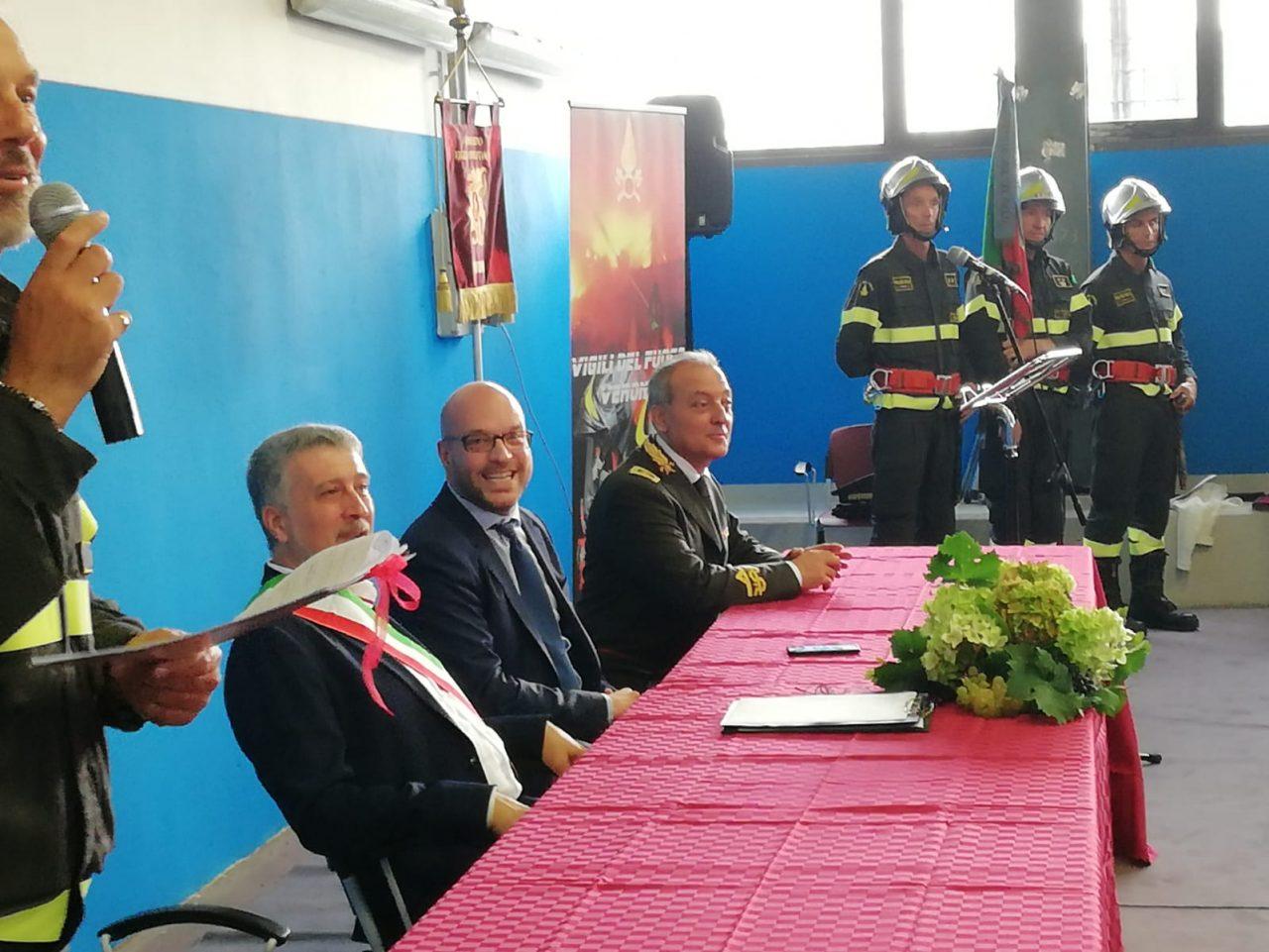 Inaugurata nuova caserma dei vigili del fuoco di Caldiero