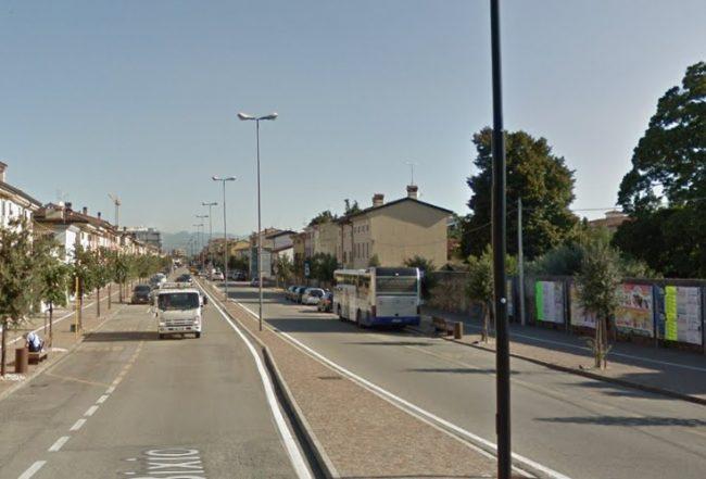 Strada chiusa a Villafranca