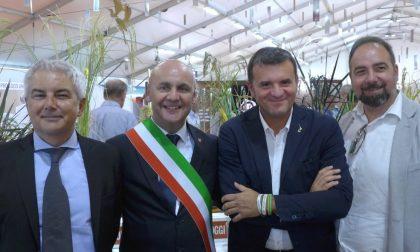 Il ministro Gian Marco Centinaio alla Fiera del Riso