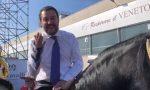 Salvini a Verona a cavallo