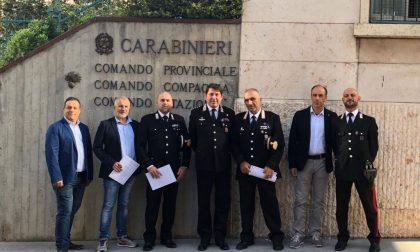 Compagnia di Legnago consegna delle ricompense dal Comandante Provinciale
