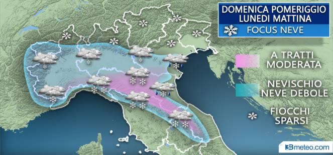 Neve in arrivo. Le previsioni meteo annunciano l'imbiancata ormai da giorni, potrebbe essere già domani e lunedì.