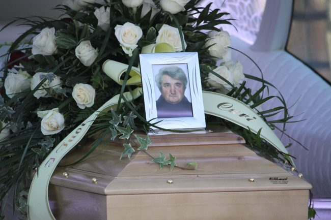 Funerale Nereo clochard investito e ucciso a Roma