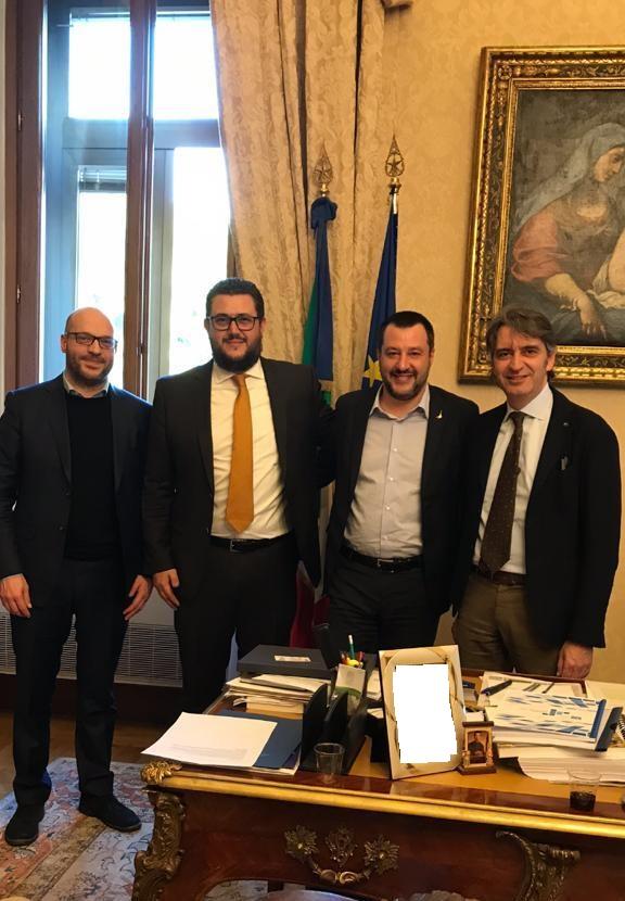 Sboarina e Polato a Roma per tema Sicurezza. Prima incontro all'Anci e poi ricevuti dal Ministro Matteo Salvini sul Decreto Sicurezza.