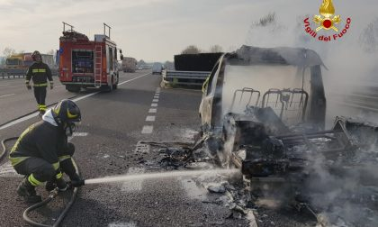 Due incendi sull'A4, giornata di passione nei tratti veronesi dell'autostrada FOTO