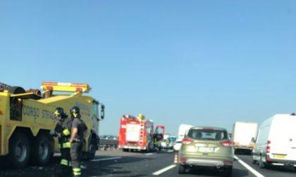 Incidente in autostrada A4 8 chilometri di coda FOTO