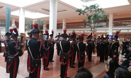 La fanfara dei Carabinieri all'ospedale di Borgo Trento