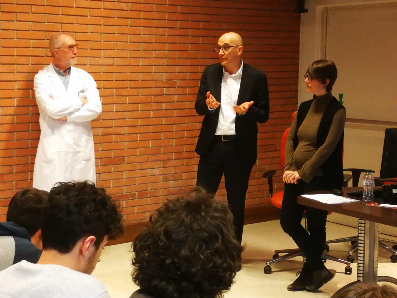 Lezione in ospedale per gli studenti di Villafranca