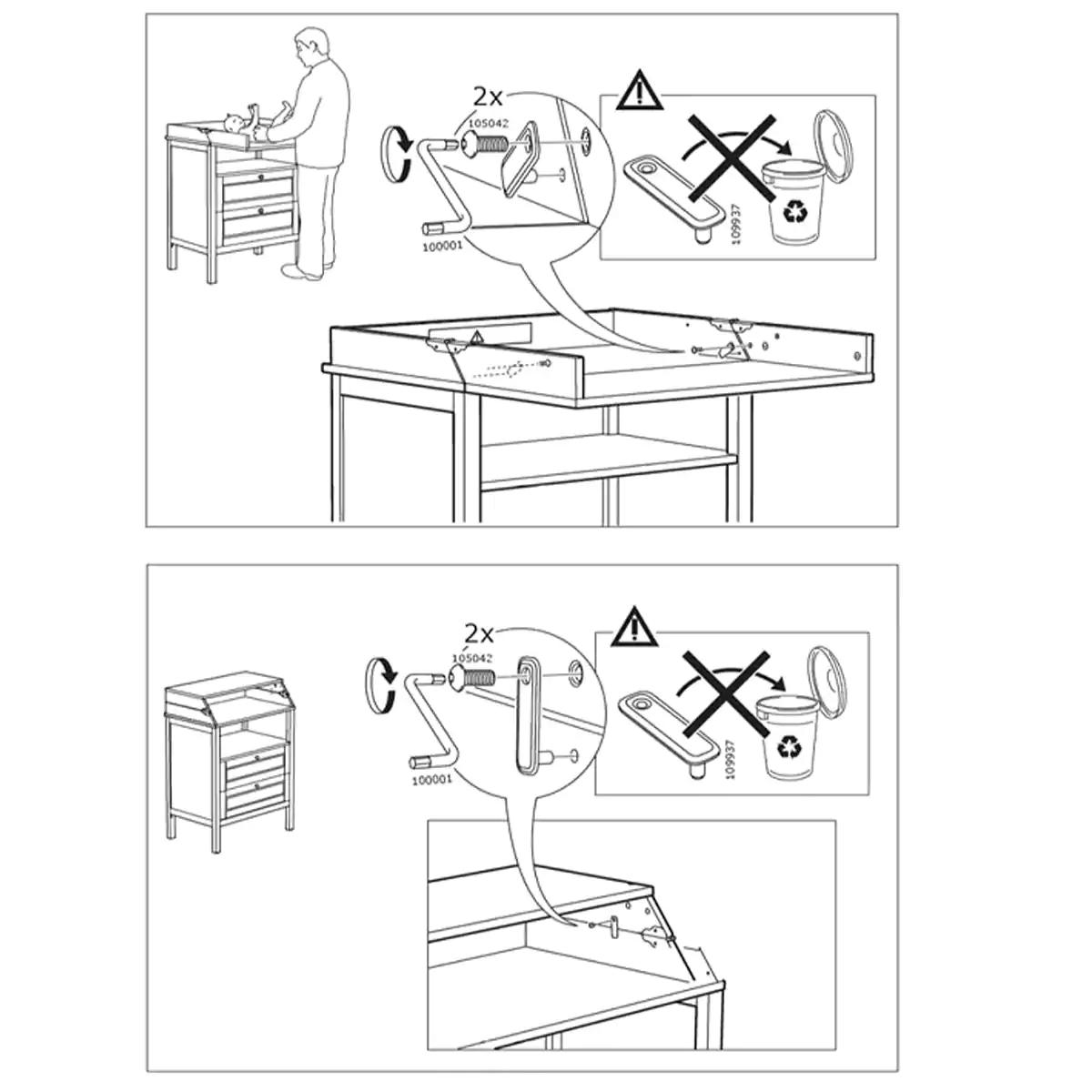 Cassettiera Fasciatoio Sundvik Ikea Mette In Guardia Bloccate La