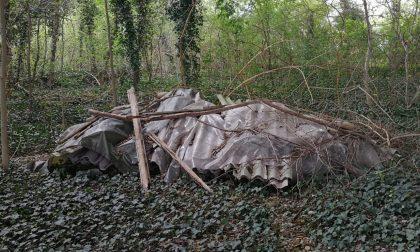Amianto e rifiuti nel capannone abbandonato tra San Martino e Verona