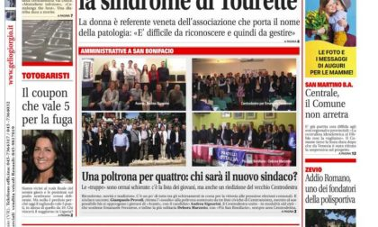 La prima pagina di San Bonifacio e San Martino B.A. Week
