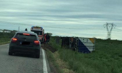 Camion esce di strada a Mozzecane