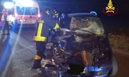 Incidente tra auto e mezzo pesante a Sommacampagna FOTO