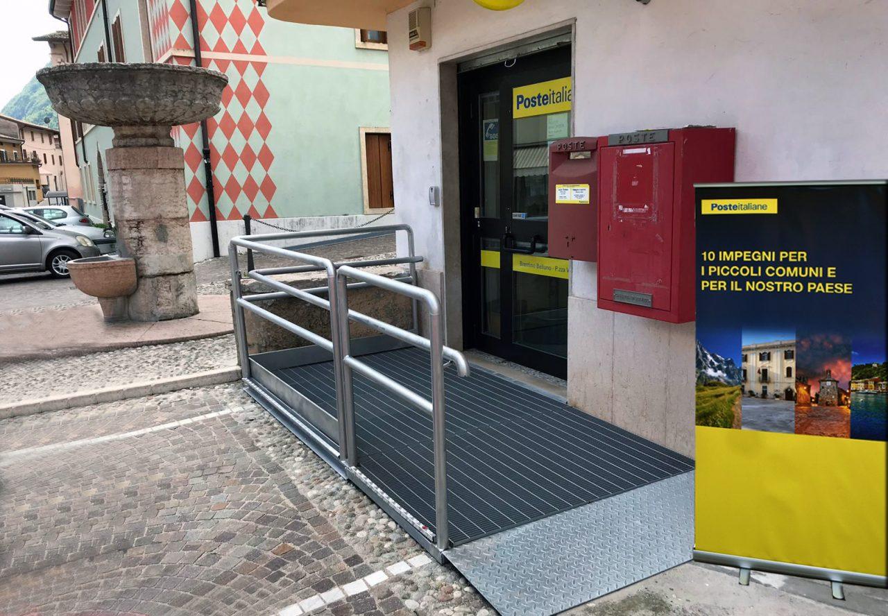 L'abbattimento delle barriere architettoniche coinvolgerà gli uffici Postali di circa 1300 Comuni
