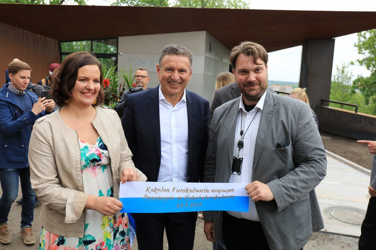 Elina Rantanen_chairperson city council Turku with Martin Leitner and Janne Laine_Funicular Project Leader City of Turku