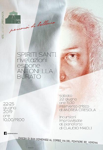 La pittrice Antonella Burato in mostra a Verona.