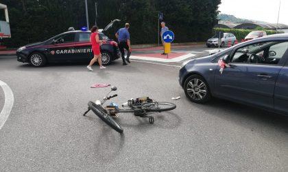 Anziano in bicicletta investito da un'auto nella Valdalpone FOTO
